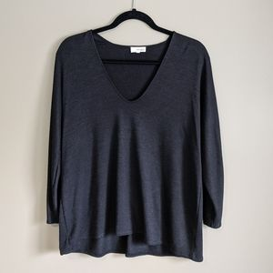 Wilfred Free   black knit oversized sweater